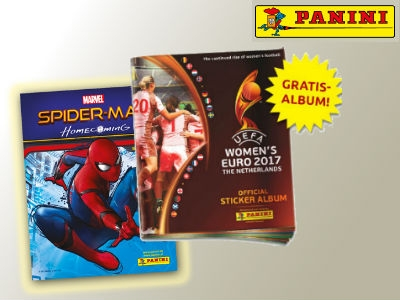 Gratis-Alben: Spiderman + UEFA Frauen EM