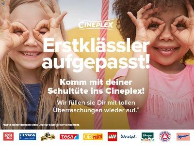 Cineplex: Schultüte gratis füllen lassen