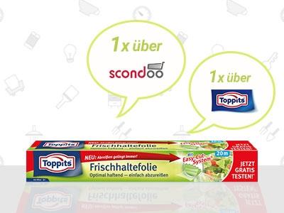 Bis zu 2x Frischhaltefolie von Toppits gratis!