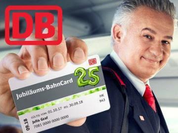 Zum Jubiläum: BahnCard 25 für nur 25€  bei Fahrten in der 2. Klasse