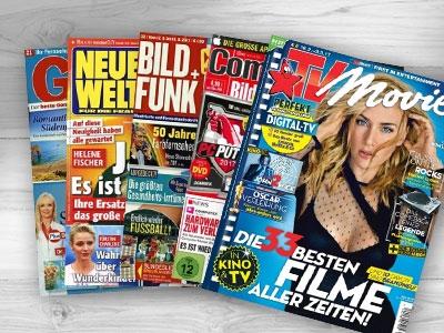 1 von 24 Zeitschriften-Jahresabos gratis bestellen!