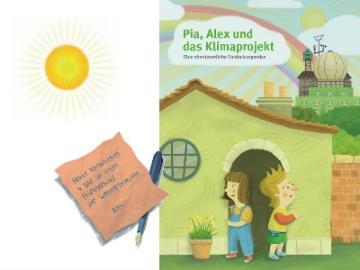 """Gratis Kinderbuch """"Pia, Alex und das Klimaprojekt"""" bestellen"""