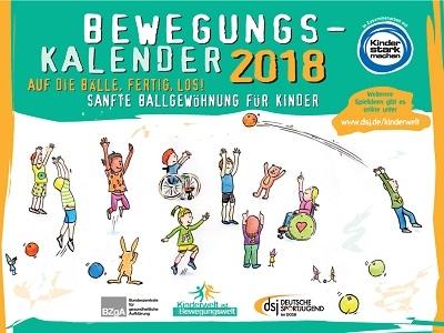 dsj-Bewegungskalender 2018 gratis anfordern