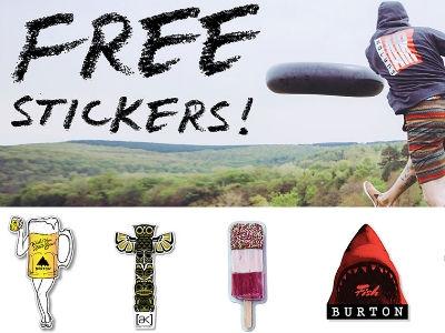 Coole Sticker von Burton gratis bestellen