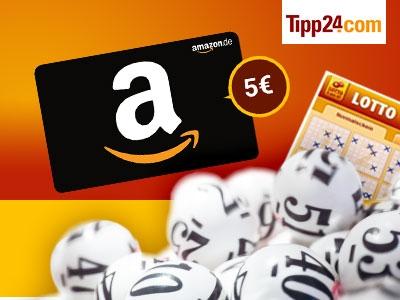 """""""6 aus 49""""-Lotto bei Tipp24 für 1€ + 5€-Amazon.de-Gutschein"""