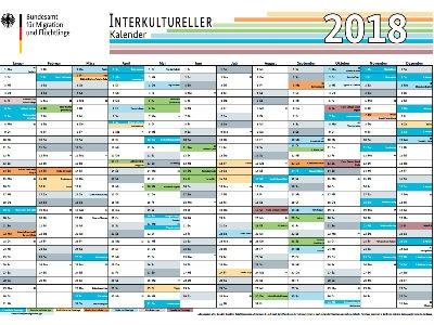 """Jahresplaner """"Interkultureller Kalender 2018"""" gratis bestellen"""