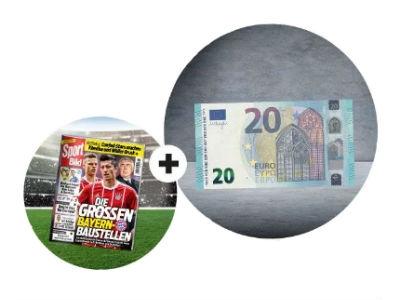 13 Ausgaben SPORT BILD für nur 16,60€ + 20€ Geldprämie