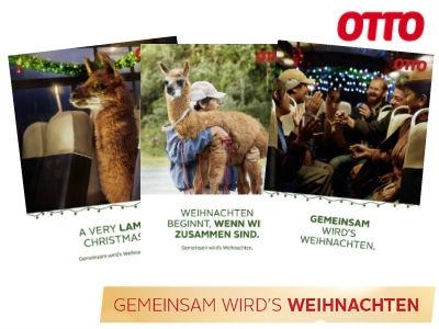 Kostenlose Weihnachtskarte von OTTO