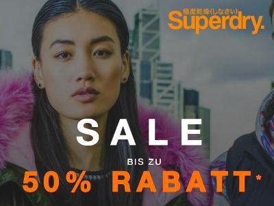 Bis zu 50% Rabatt im Sale bei Superdry
