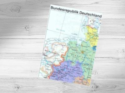 Deutschlandkarte (40 x 55 cm) gratis & versandkostenfrei