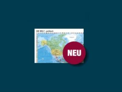 Weltkarte in 59 x 41 cm gratis & versandkostenfrei