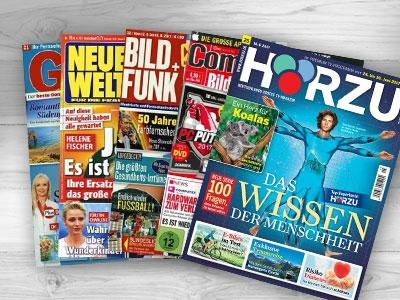 1 von 19 Zeitschriften-Jahresabos gratis bestellen!