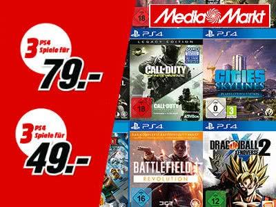 3 Games für 49€ oder 79€ bei MediaMarkt
