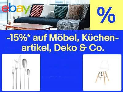 """15% Rabatt bei eBay auf """"Möbel & Wohnen"""""""