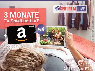 3 Monate TV Spielfilm LIVE: 2,97€ + 5€-Amazon.de-Gutschein