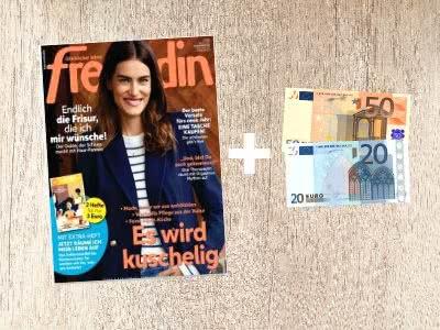 12 Monate Freundin Zeitschrift für 78€ + 70€-Verrechnungscheck