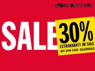 30% Extra-Rabatt auf Sale bei Urban Outfitters