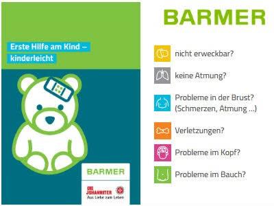 """Kostenlose Broschüre """"Erste Hilfe am Kind"""""""