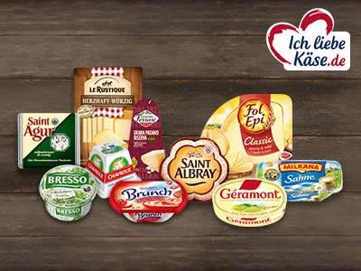 Mit Coupons bis zu 6,50€ auf beliebte Käse-Produkte sparen