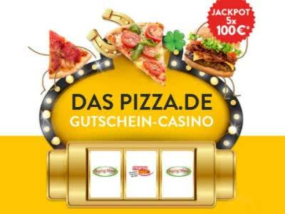 Gutscheincasino bei Pizza.de mit bis zu 100€ im Jackpot