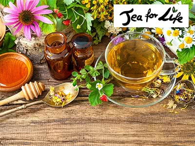 """Exklusiv bei SPARWELT: 15% Rabatt auf alle Tees von """"Tea for Life"""""""