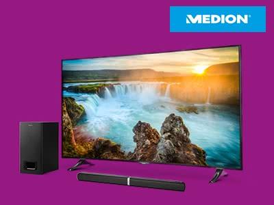 Bis zu 25% Rabatt beim TV- & Audio-Sale von Medion
