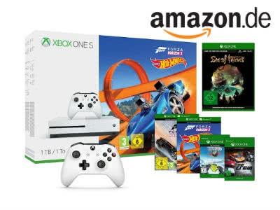 XBox One S inkl. 2 Controller + 4 Spiele für nur 229€