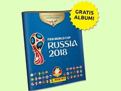 Panini-Album zur WM + 6 Sticker gratis und versandkostenfrei