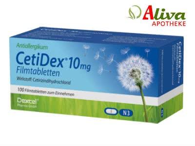 Allergietabletten: Cetidex 10 Mg Filmtabletten (100 St.) für nur 5,30€ bei Aliva
