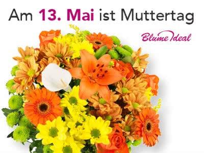 Spart jetzt satte 14% bei BlumeIdeal zum Muttertag