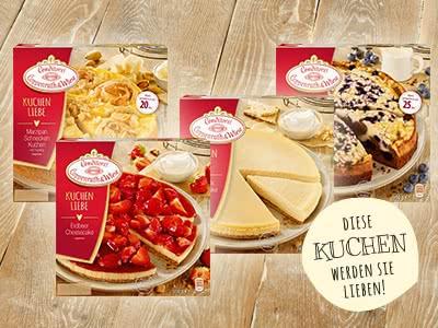 """1€ Rabatt auf alle """"Coppenrath & Wiese Kuchenliebe""""-Produkte"""