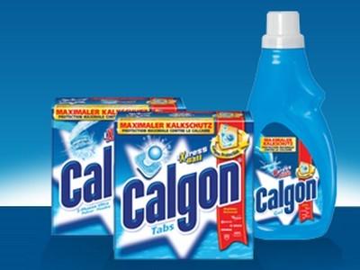 Wasserhärte-Teststreifen gratis bei Calgon anfordern