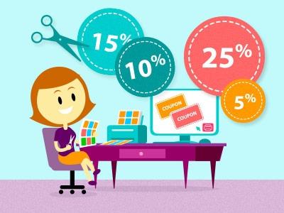 Coupons ausdrucken und beim Einkauf sparen