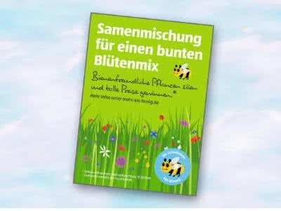 Gratis-Samentüte für bienenfreundlichen Blütenmix