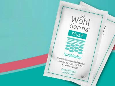Wohlderma-Sprühlotion: Gratis-Produktprobe für trockene Haut