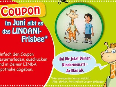 Für Kinder: Gratis-Frisbee in LINDA Apotheken erhalten