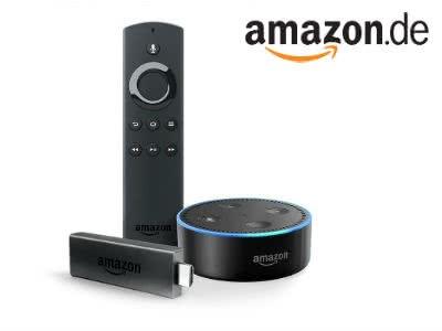 Amazon Fire TV Stick + Alexa-Sprachfernbedienung + Echo Dot für nur 54,99€