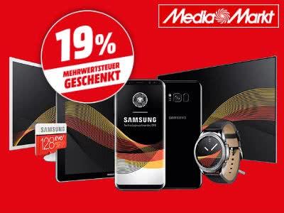 MediaMarkt: 19% Mehrwertsteuer auf Samsung-Produkte sparen