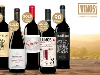 Nur für Sparwelt-Nutzer: 50% Rabatt auf das Rotwein-Entdecker-Paket bei Vinos