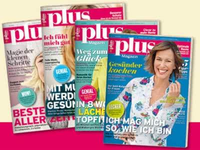 """4 x """"plus Magazin"""" gratis nach Hause bestellen"""
