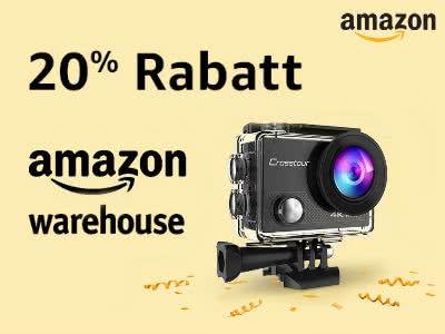 B-Ware zu 1A-Preisen: 20% Rabatt auf ALLE Warehouse-Deals bei Amazon