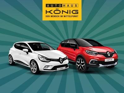 Captur oder Clio? Renault-Bestseller jetzt für nur 59€ mtl. leasen