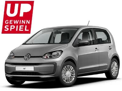 Fordert das Glück mit dem OTTO UP Gewinnspiel heraus –  gewinnt z.B. den VW up! im Wert von 13.000€