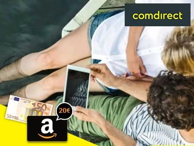 comdirect-Girokonto + 50€-Prämie + 20€-Amazon.de-Gutschein