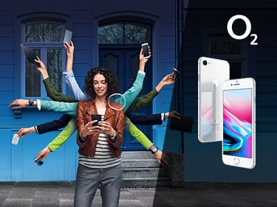 Mega Daten. Mega Preise. iPhone 8 für nur 39,99€ mtl. bei o2