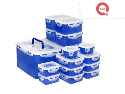Für QVC-Neukunden: 18 LOCK&LOCK Frischhaltedosen für nur 14,98€