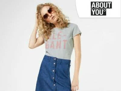 Viele T-Shirts für Frauen und Männer ab 3,90€ inkl. Versand bei ABOUT YOU