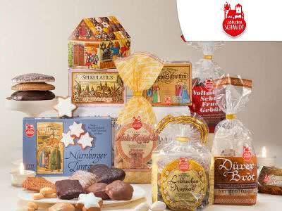 Lebkuchen-Begrüßungspäckchen mit vielen Leckereien für nur 15€