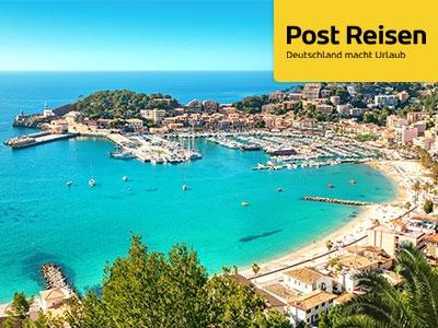 40€ Rabatt extra auf Reise-Deals bei Post Reisen