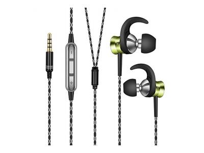 Aita AT821 In Ear Kopfh?rer In-Ear Stereo Ohrh?rer mit Mikrofon f¨¹r iPhone iPad Samsung etc mit 3.5mm Klinkenstecker (Gr¨¹n)